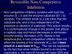 reversible non competitive inhibition