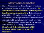 steady state assumption