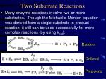 two substrate reactions
