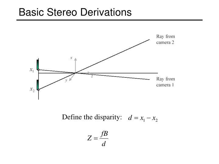 Basic Stereo Derivations