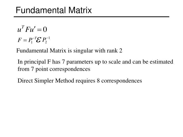 Fundamental Matrix