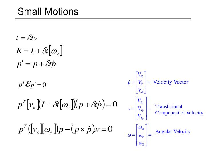 Small Motions
