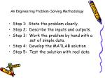 an engineering problem solving methodology