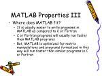 matlab properties iii