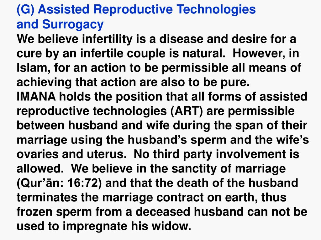 (G) Assisted Reproductive Technologies
