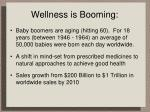 wellness is booming