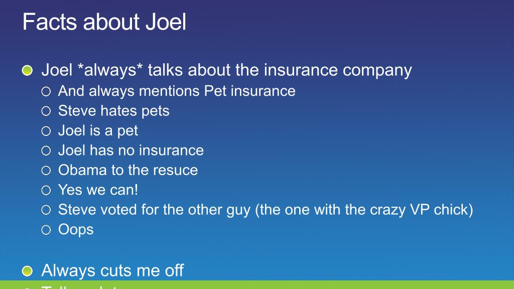 Facts about Joel