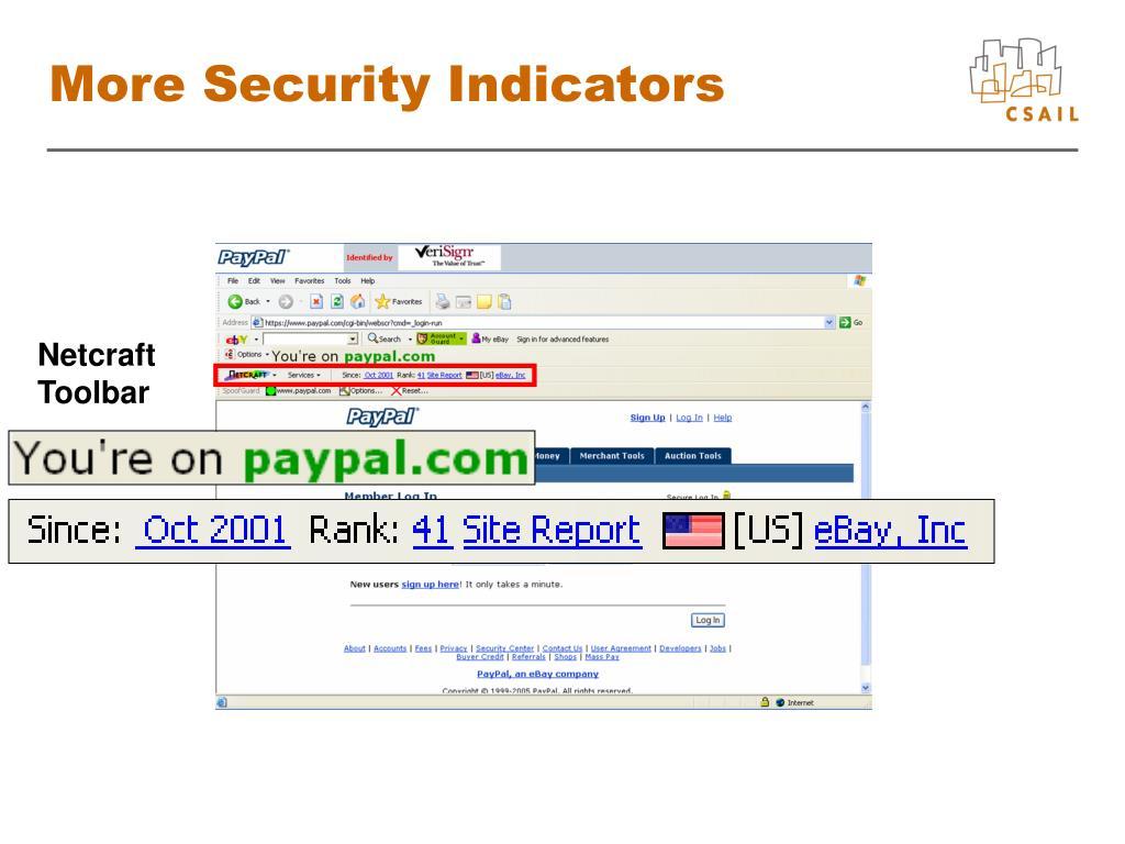 More Security Indicators