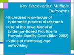 key discoveries multiple outcomes