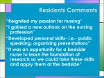 residents comments