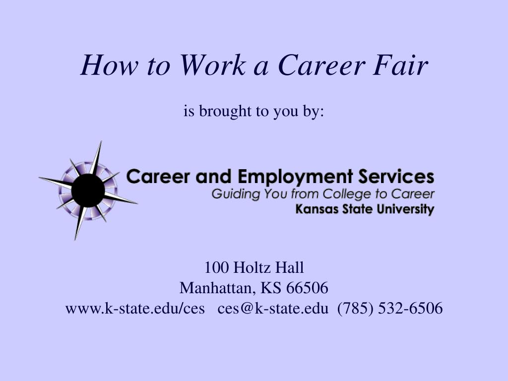 how to work a career fair l.