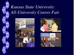 kansas state university all university career fair