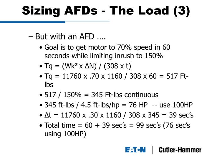 Sizing AFDs - The Load (3)