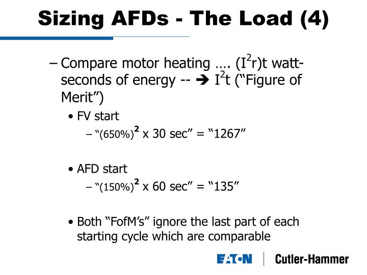 Sizing AFDs - The Load (4)