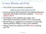 course website and faq