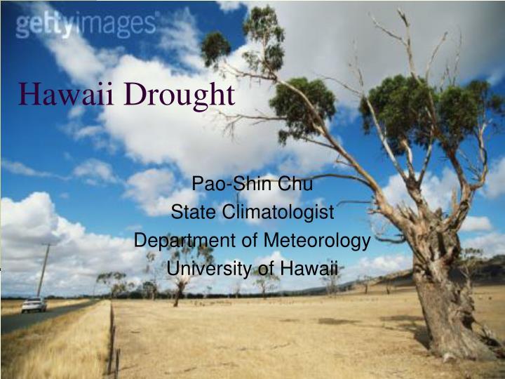 Hawaii drought