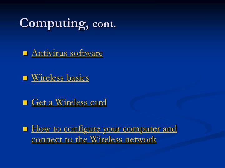 Computing cont