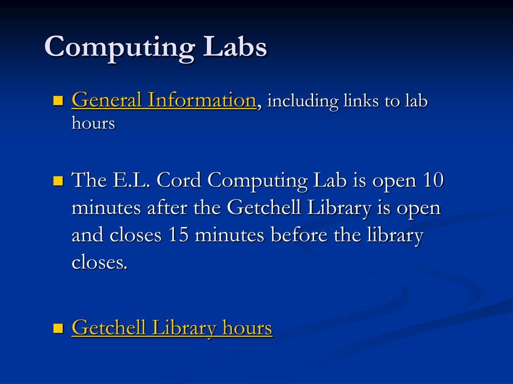 Computing Labs