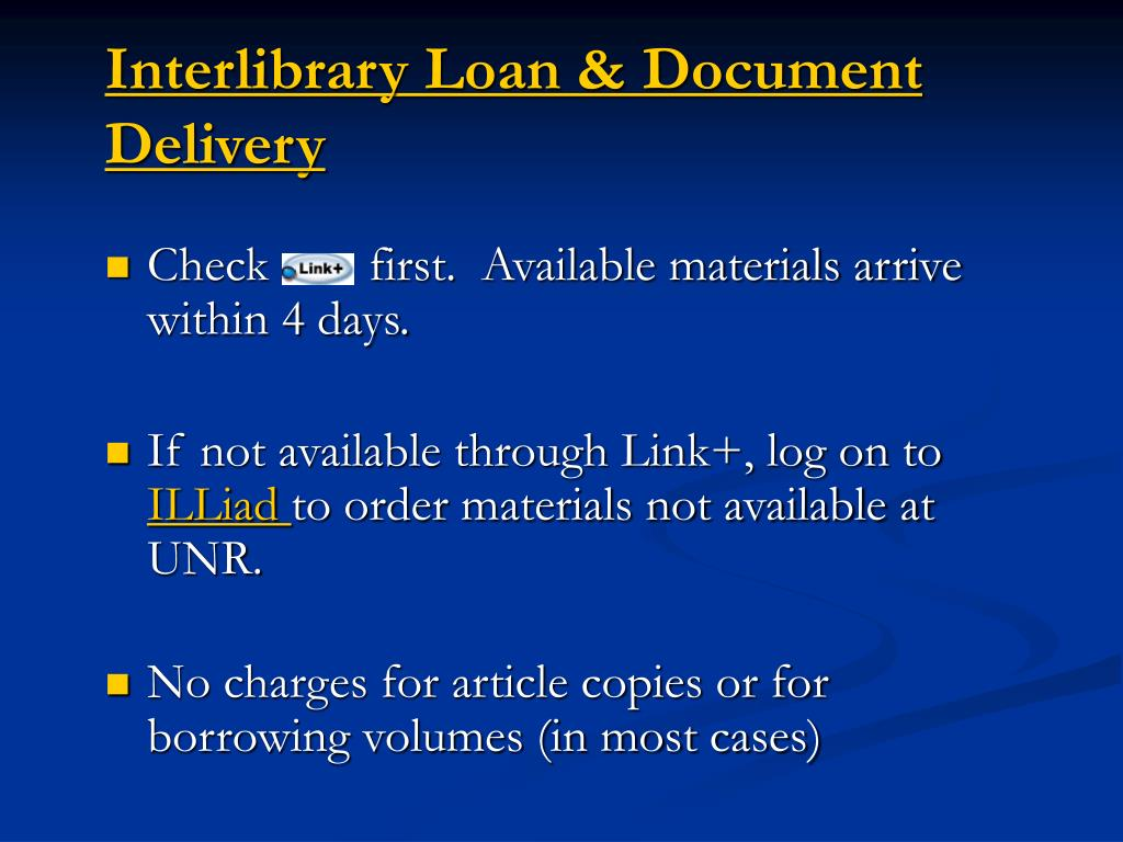 Interlibrary Loan & Document Delivery
