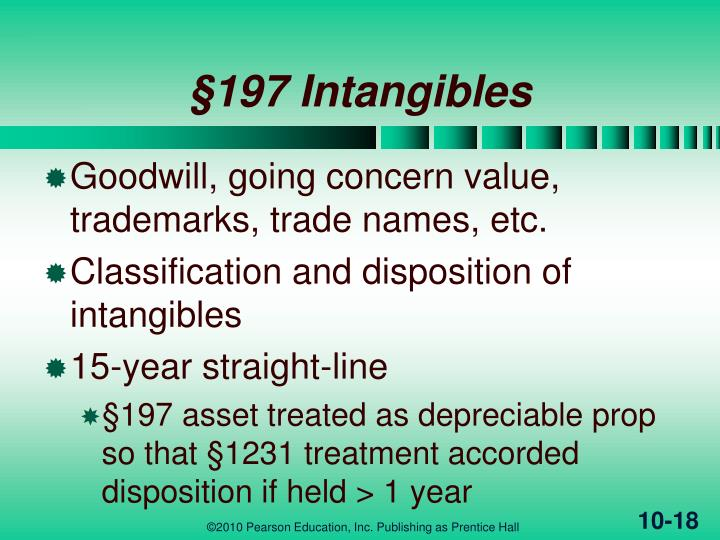 §197 Intangibles