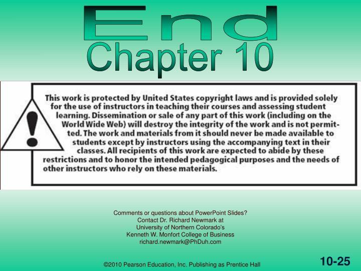 ©2010 Pearson Education, Inc. Publishing as Prentice Hall