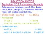 induction motor equivalent cct parameters example