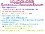 induction motor equivalent cct parameters example2