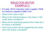 induction motor example 1