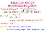 induction motor example 2 solution