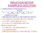 induction motor example 2 solution2