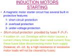 induction motors starting6