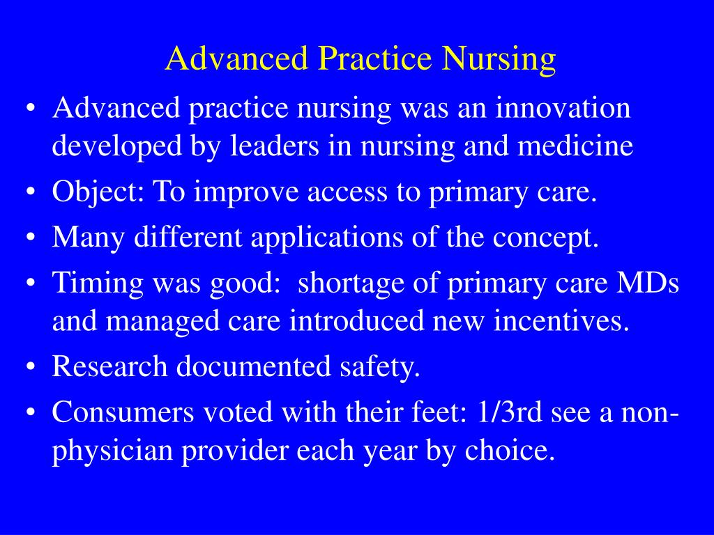 an introduction to the advanced nursing practice