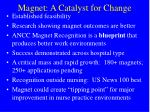 magnet a catalyst for change