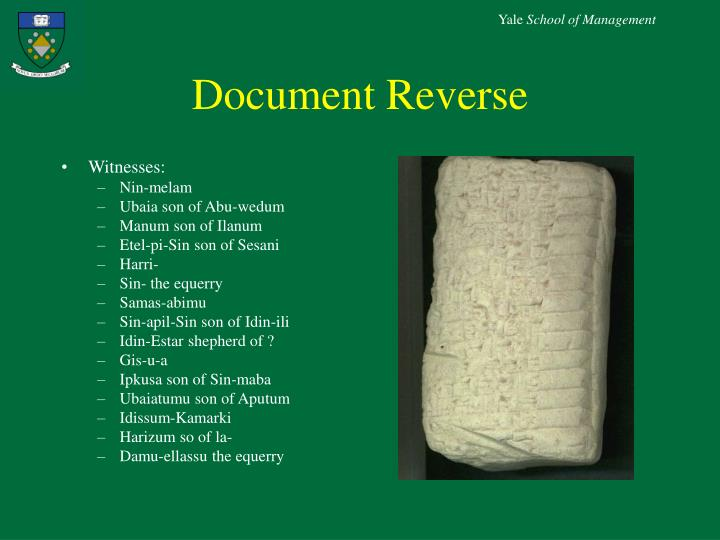 Document Reverse