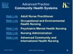 advanced practice community health systems