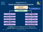 department of social and behavioral sciences29