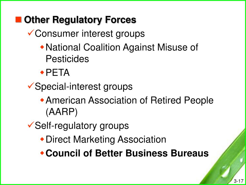 Other Regulatory Forces