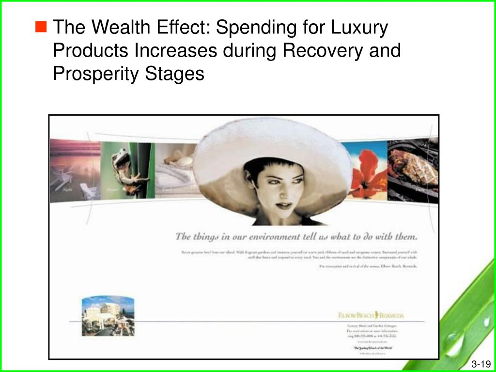 The Wealth Effect: Spending for Luxury Products Increases during Recovery and Prosperity Stages
