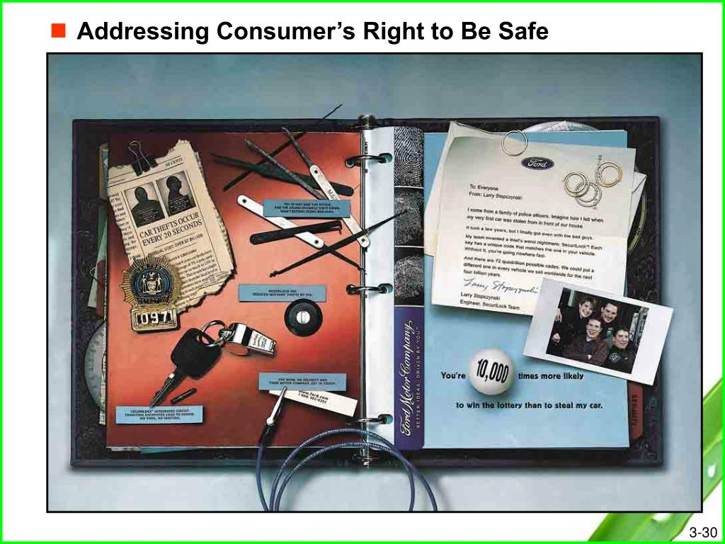 Addressing Consumer's Right to Be Safe