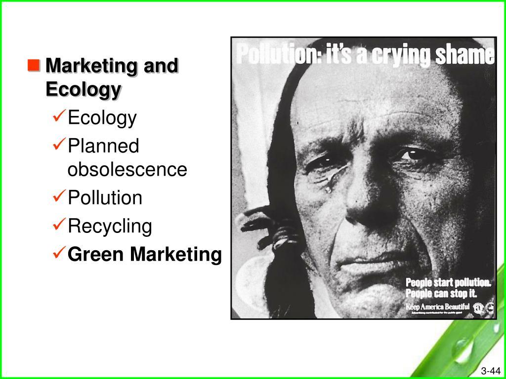 Marketing and Ecology