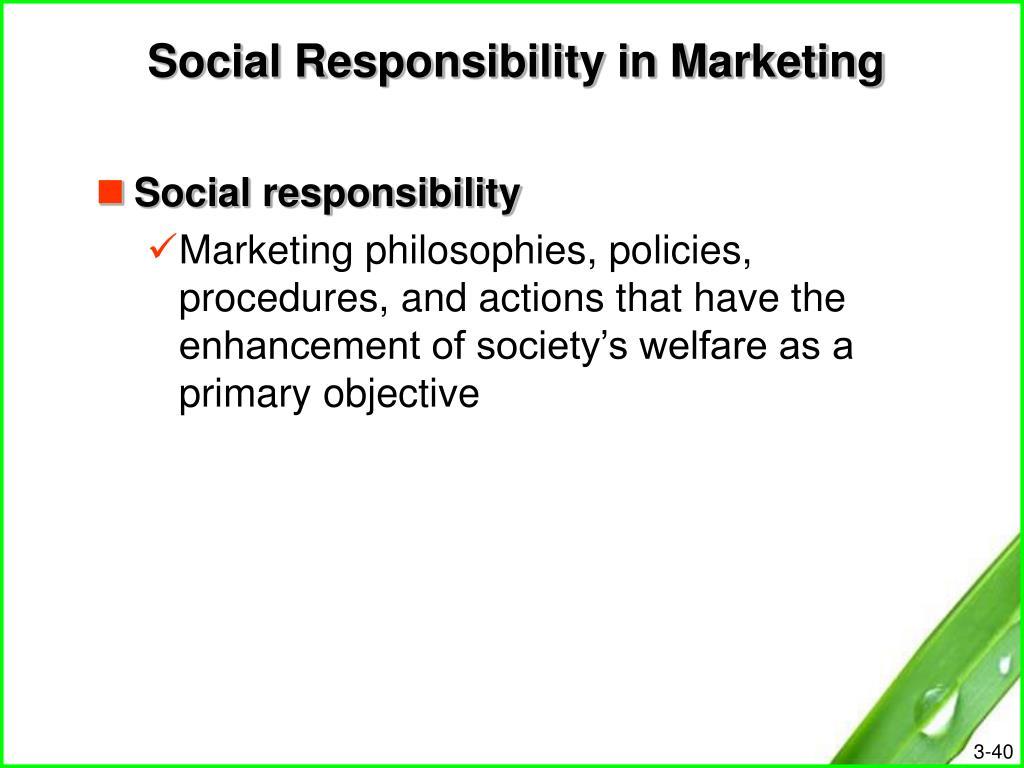 Social Responsibility in Marketing