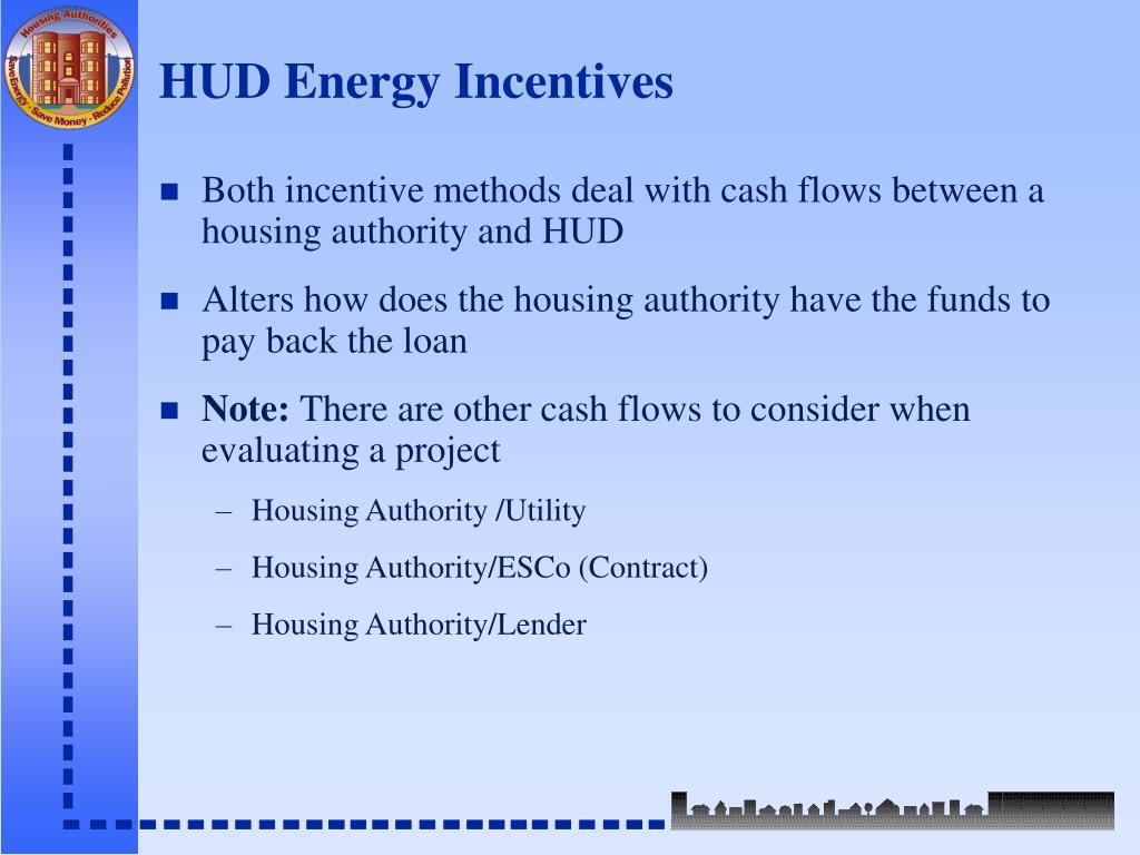 HUD Energy Incentives