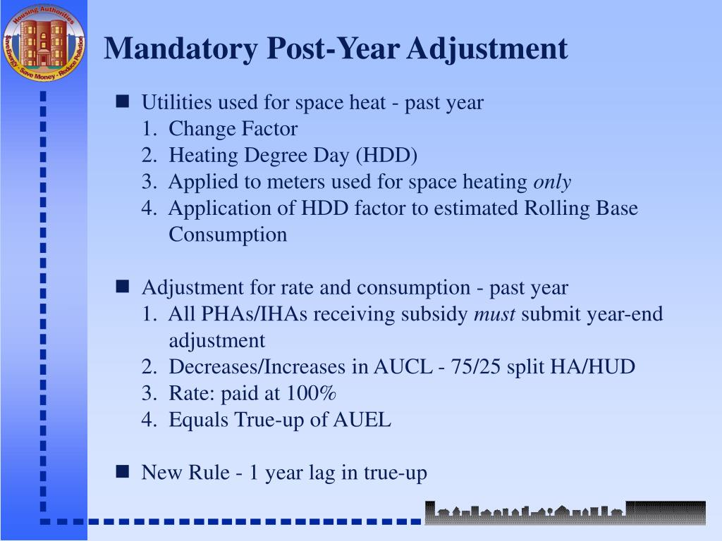 Mandatory Post-Year Adjustment