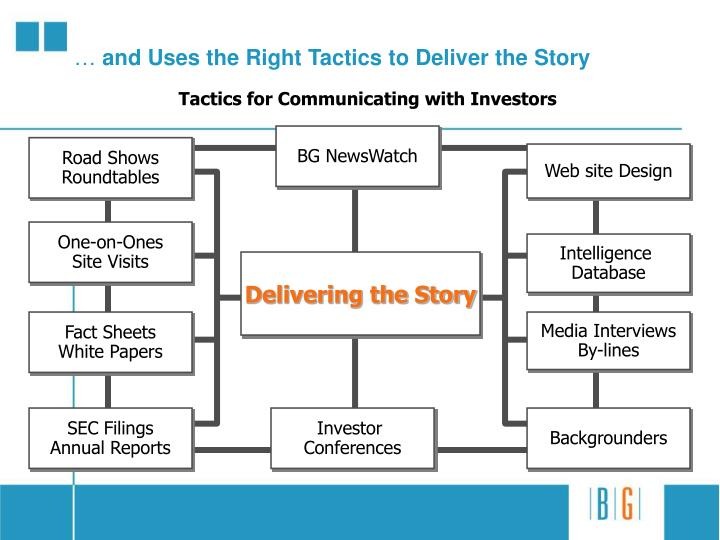 And uses the right tactics to deliver the story