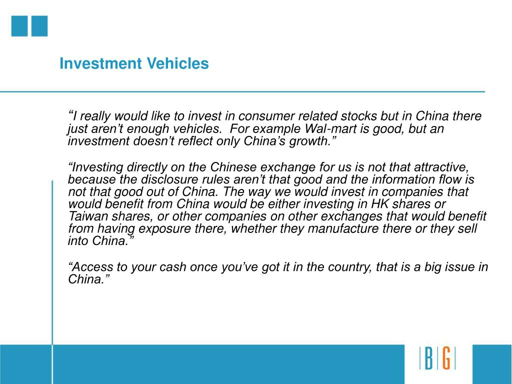 Investment Vehicles