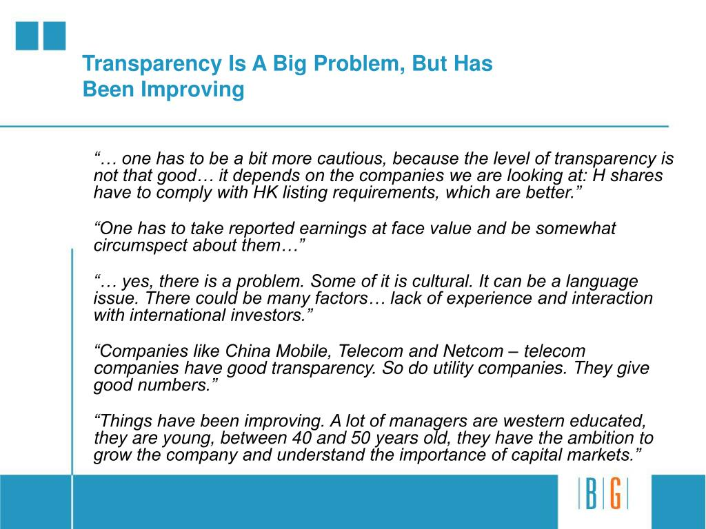 Transparency Is A Big Problem, But Has Been Improving