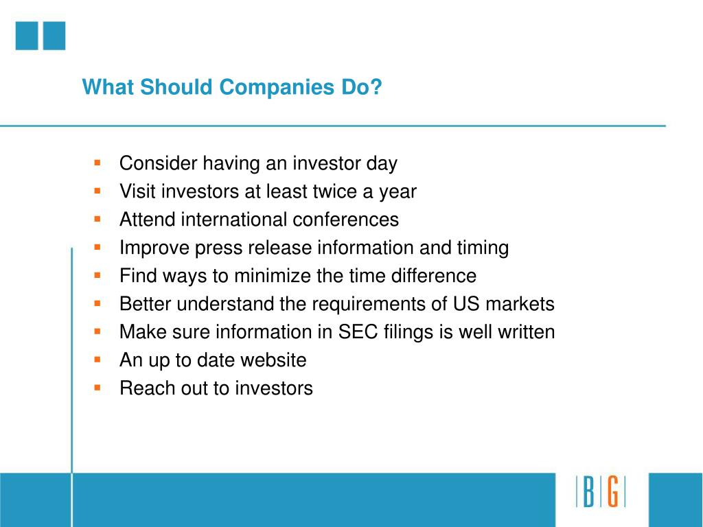 What Should Companies Do?