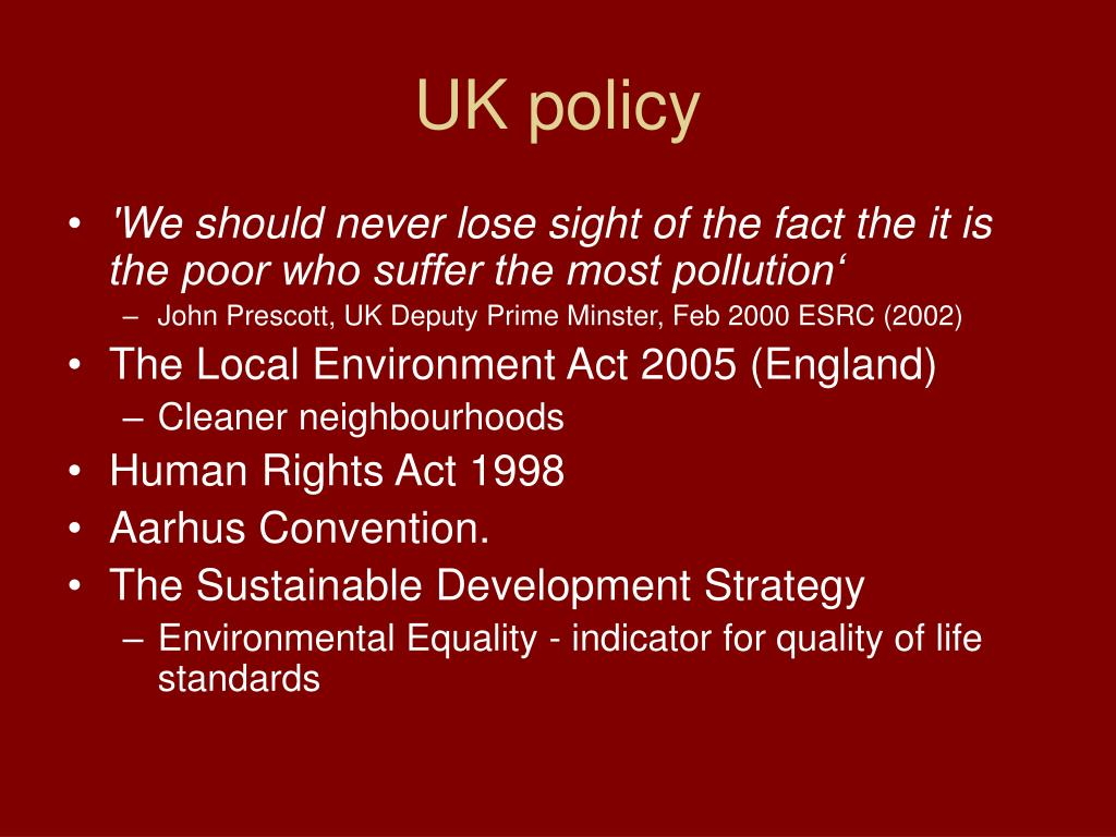 UK policy
