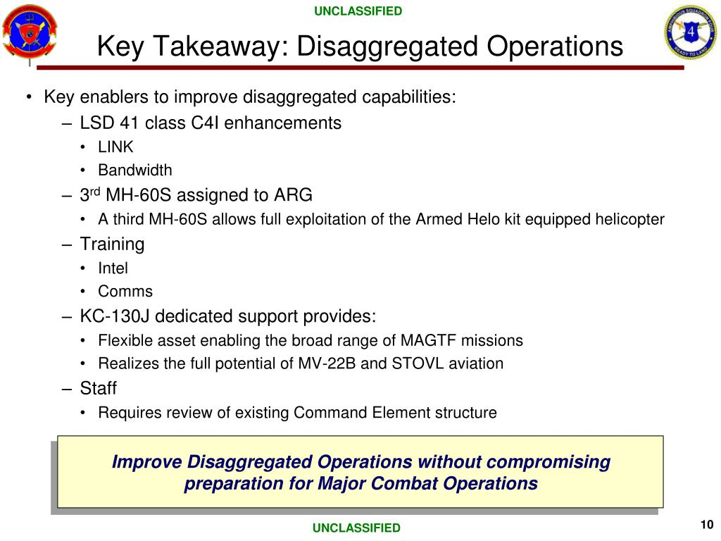 Key Takeaway: Disaggregated Operations