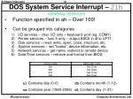 dos system service interrupt 21h